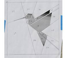 Paper pieced hummingbird pattern Video