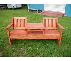 Patio bench ideas Video