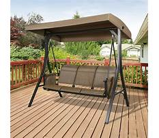 Patio bench swing Video