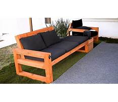 Patio furniture plans Video