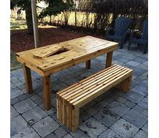 Patio table wood bench designs Video