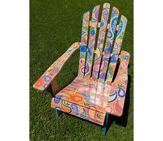 Patterns for painting adirondack chairs Video