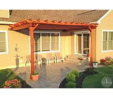 Pergola design attached to house Video