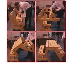 Picnic table folds into bench.aspx Video