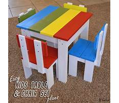 Plans for childrens table and chairs Video
