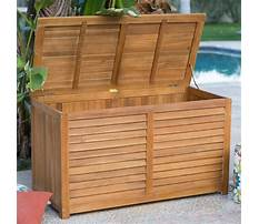 Plans for outdoor wooden storage box Video