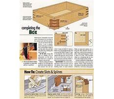 Plans for wooden keepsake box Video