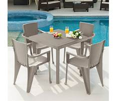 Plastic table and chairs for outside Video