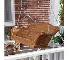 Plastic wicker porch swing Video