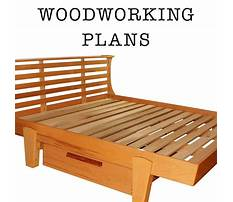 Platform bed with drawers woodworking plans Video