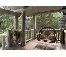 Porch swing log cabin Video