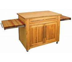 Portable kitchen island butcher block Video