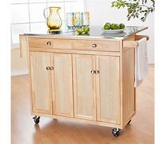 Portable kitchen island made with cabinets Video