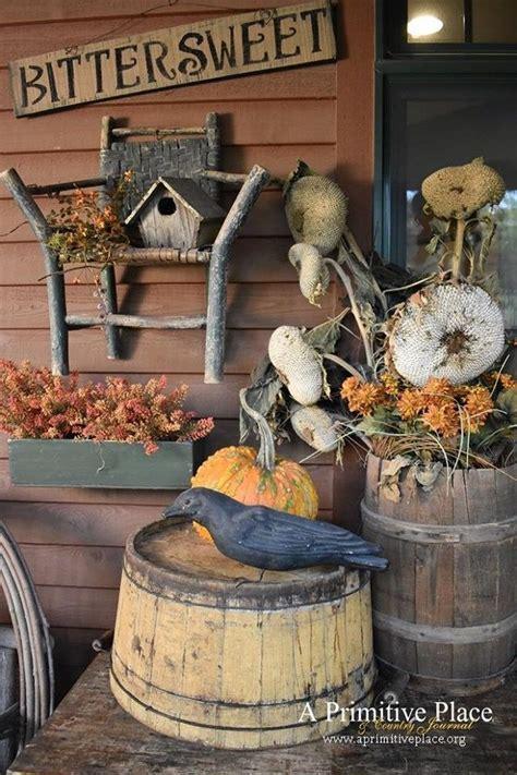 Primitive Fall Porch Decor