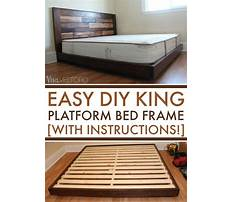 Queen bed frame plans Video