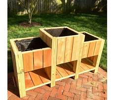 Raised cedar planter box plans Video