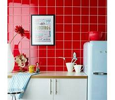 Red kitchen tile flooring Video