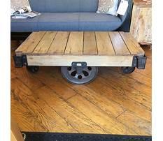 Restoration hardware industrial cart coffee table Video