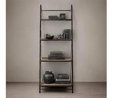 Restoration hardware leaning bookshelves Video