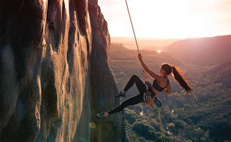 Rock Climber Woman Wallpaper