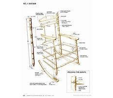 Rocking chair plans popular mechanics Video