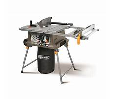 Rockwell table top saw Video