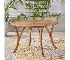 Round patio table wood Video
