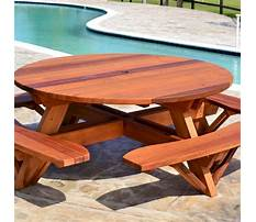 Round wooden picnic table plans Video