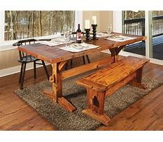 Rustic dining bench plans Video