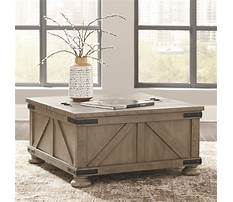 Rustic pine coffee table with storage Video