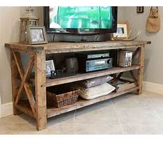 Rustic tv stand plans Video