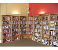 School library bookshelf Video