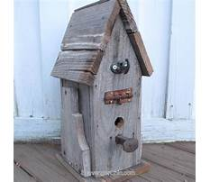 Scrap wood birdhouse plans Video