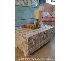 Shabby chic coffee table trunks chests Video