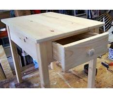 Side table drawer plans Video