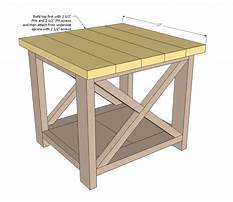 Side table plans free Video