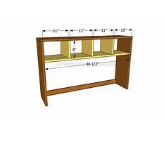 Simple desk hutch plans Video