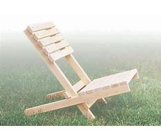 Simple folding chair plans Video