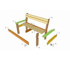 Simple park bench plans Video