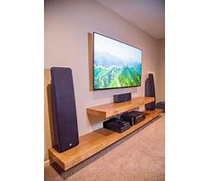 Simple shelf entertainment center Video