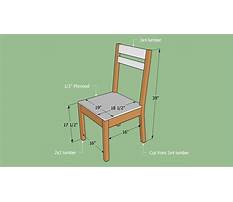 Simple wood chair plans Video