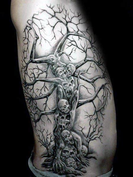 Skeleton Tree Tattoo Drawings