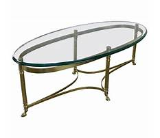 Small brass and glass coffee tables Video