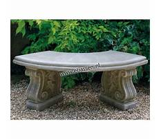 Small curved outdoor bench Video