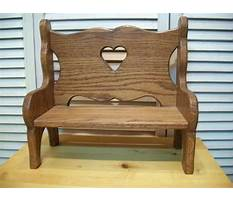 Small decorative wooden bench Video