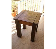 Small end table woodworking plans Video