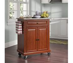Small microwave carts with storage Video