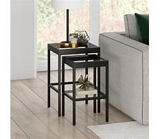 Small modern glass end tables Video