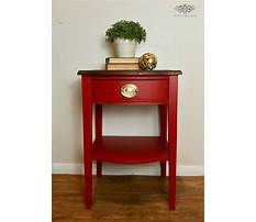 Small red side table Video