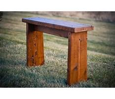 Small sitting bench Video